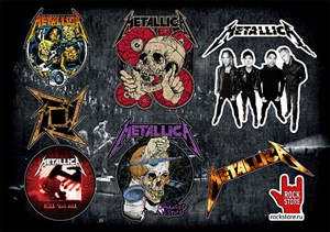 Стикерпак (Набор наклеек) Metallica#2