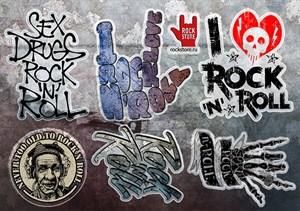 Стикерпак (Набор наклеек) Rock`n`roll#1