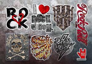 Стикерпак (Набор наклеек) Rock`n`roll#3